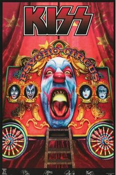 The quality detailed on these are much better on the magnet than shown here and will last many years. It is only a refrigerator magnets. Rock Posters, Band Posters, Music Posters, Vintage Kiss, Vintage Circus, Vintage Music, Kiss Group, Kiss World, Kiss Rock Bands