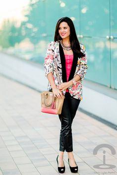 #fashion #fashionista @Crimenes de la Moda Oriental Floral Blazer Crimenes de la moda