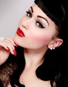Rockabilly Make-up. Rockabilly Make-up. Pin Up Makeup, Beauty Makeup, Makeup Looks, Eye Makeup, Hair Makeup, Makeup Geek, Crazy Makeup, Makeup Art, Pinup Girl Makeup