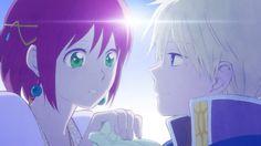 """Akagami no shirayuki hime"" Zen and Shirayuki in the ending song beautiful"