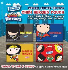 7-Eleven Justice League Chibi Pouch 1