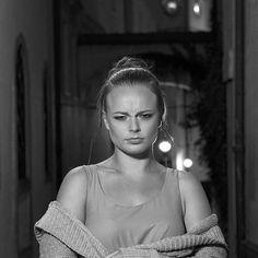 IN THE STREET with beautiful Tereza @tereza.prikrylova. Testing new camera OM-D EM1 Mark II with Aputure LED Light. #davidbucekcom #followme #olympusinspired #mujolympus #olympus #friends #fun #model #fashion #streetphoto #omd #em1markii #night #olomouc #olomouc_city #redhead #redlips #girl #woman #test #nightphotography #dailygram #dailyphoto #photooftheday #teacher #blackandwhite #blackandwhitephoto #angry