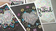 cardmaking technique video tutorial: Partial Heat Embossing by Jennifer McGuire ... luv the creative uses for big background dies ...