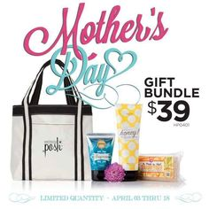 Click here to pamper your mom this Mother's day.  Let's Pamper her with 3 great full sized items and a sample best selling mask, apricots overnight. https://www.perfectlyposh.com/mothers-day-gift-bundle  #pampermom #mother'sday $39.00