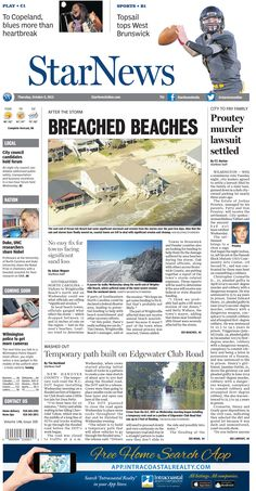Front page from Thursday, Oct. 8, 2015