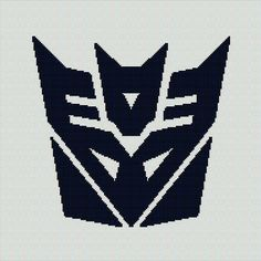 $5 - Transformers Decepticon -  Crochet Afghan Blanket Pattern Graphghan by AngelicCrochetDesign on Etsy