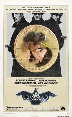 Three days of the Condor (1975) D: Sydney #Pollock. Robert #Redford, Faye #Dunaway