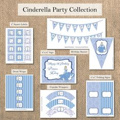 Cinderella Birthday Party  Customized Printable by DGInvites, $40.00