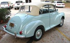 I owned one of these (Morris Minor) back in the late 60's. Mine was red with a white top. I LOVED that car.