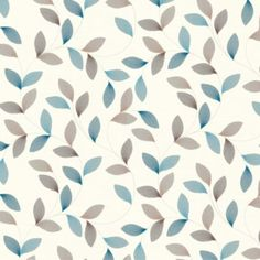 A.S. Creation Adrianna Motif Brown, Cream & Turquoise Wallpaper: Image 1