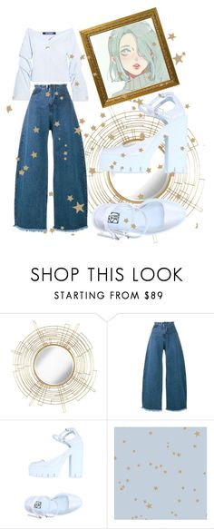 """Caught up between  spring and summer"" by dudettelucy ❤ liked on Polyvore featuring Uttermost, Marques'Almeida, Stiù, Cole & Son, Jacquemus, Blue, springintosummer and MARQUES"
