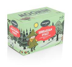 Bagged Moomin Green Tea - Adventurer's snacks - The Official Moomin Shop Moomin Shop, Flavoured Green Tea, Tove Jansson, Tea Box, Vanilla Flavoring, Green Bag, Little People, Pear, Decorative Boxes