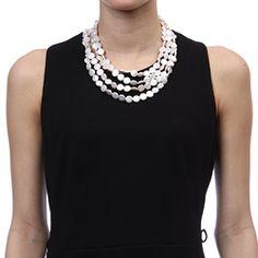 pretty coin pearl necklace