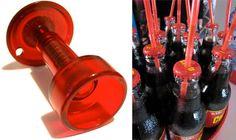 BottleBob Bottle Cap Punch creates a straw hole@Whitney Stewart Wells
