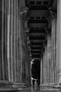 Zappeion - Athens, Attiki by Vasilis Protopapas. Photo Work, Photo B, Museum, Bw Photography, Stage Set, Built Environment, Adventure Is Out There, Amazing Architecture, Pathways