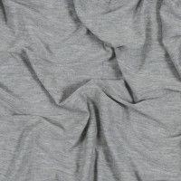 Light Gray Bamboo and Merino Wool Jersey