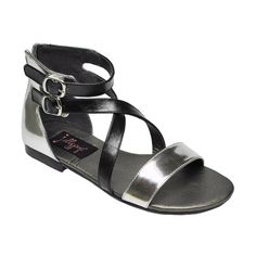CANNA BLACK / SILVER Jellypop sandals!