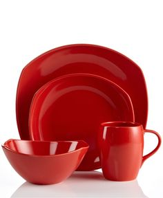 Dansk Dinnerware, Classic Fjord Chili Red Collection - Casual Dinnerware - Dining & Entertaining - Macys