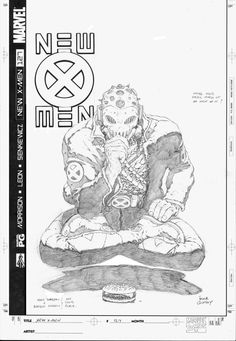 Cover to New X-Men #127 by Frank Quitely.