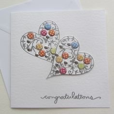 This stunning handmade card is made using hammered card stock and stunning embellishments.