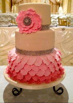 In-House Paradise Banquet Hall cake #weddings #toronto #GTA #spring #sassy #yummy #pink