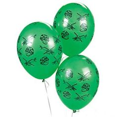 12 Army Camouflage Latex Balloons