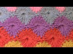 Haken - tutorial #223: de Harlekijnsteek - YouTube Make Your Own Clothes, Star Stitch, Crochet Videos, Youtube, Make It Yourself, Embroidery, Blanket, Knitting, Blog