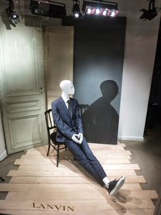 """Lanvin London, """"John some advice: The black shadow cares for itself,not for you"""", pinned by Ton van der Veer"""