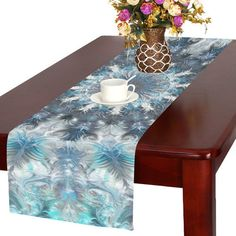 Kess InHouse Project M Heart Stripes Rainbow Shapes Table Runner