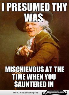 Joseph Ducreux: I knew you were trouble