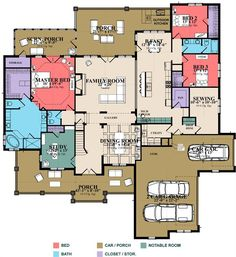 Plan Stunning And Versatile 5 Bedroom French Country House Plan Bungalow House Plans, Craftsman House Plans, Dream House Plans, House Floor Plans, Bungalow 5, French Country House Plans, French Country Bedrooms, French Country Decorating, Shabby
