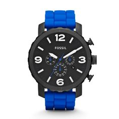Nate Chronograph Silicone Watch by Fossil...I want it