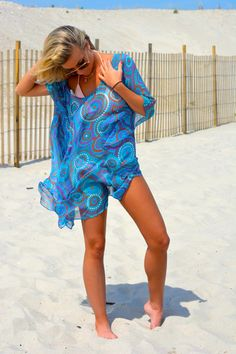 Beach kaftan beach coverup by solemareny on Etsy