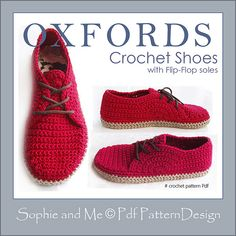 Ravelry: Flip-Flop Oxfords pattern by Sophie and Me-Ingunn Santini