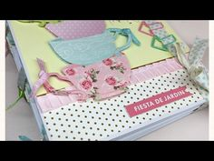 Tutorial álbum Fiesta del jardín (parte 2) - YouTube Album Scrapbook, Mini Albums Scrap, Ideas Para Fiestas, Notebooks, Journals, Youtube, Lunch Box, Videos, Gifts