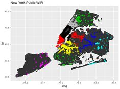 ALT Datum Visualizing New York City WiFi Access with K-Means Clustering Data Analytics Map Of New York, New York City, Sum Of Squares, Good Meaning, Information Design, Data Analytics, Data Science, Wifi, Illustration