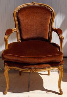 Vintage French Louis XV Bedroom Chair inc Reupholstery (exc. fabric)