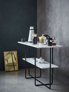 Kitchen inspiration in wood and concrete - via Coco Lapine Design blog