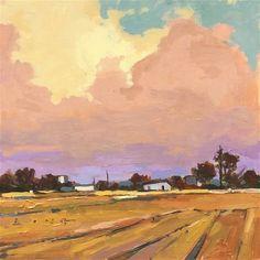 """Daily Paintworks - """"Violet Horizon"""" - Original Fine Art for Sale - © Chris Long"""