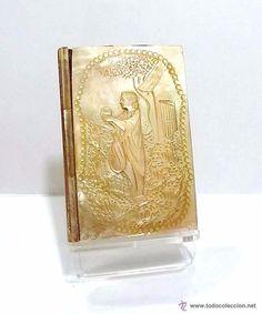 Antigüedades: ANTIGUO CARNET DE BAILE RELIEVE TALLADO EN NACAR - FRANCIA SIGLO XIX - Foto 2 - 52751110