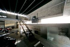 Asahikawa Garage || Japan : Kamikawa || Contemporary Japanese Garage || design by Jun Igarashi Architects Inc.