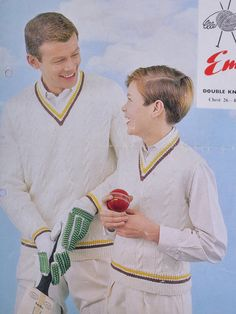vintage knitting pattern pdf download father son cricket cable jumper sweater pattern only pdf 1960s