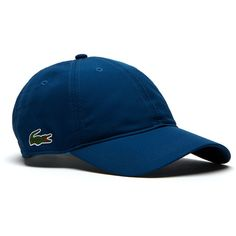 Lacoste SPORT cap in solid diamond weave taffeta ($35) ❤ liked on Polyvore featuring accessories, hats, lacoste sport lacoste sport, poetic blue, tennis tennis, mens caps and hats, mens sports caps, mens sports hats, mens caps and mens hats