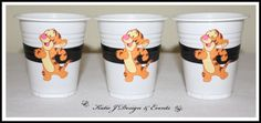 Cup Stickers #Tigger #Tiger #Winnie #The #Pooh #Unisex #Boy #Girl #1st #Baby #Shower #Birthday #Bunting #Party #Decorations #Ideas #Banners #Cupcakes #WallDisplay #PopTop #JuiceLabels #PartyBags #Invites #KatieJDesignAndEvents #Personalised #Creative
