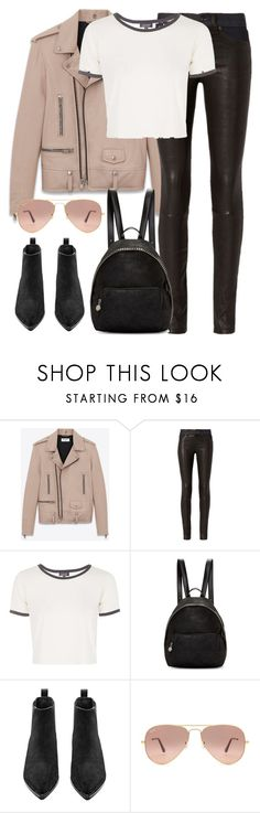 """Untitled #2845"" by elenaday ❤ liked on Polyvore featuring Yves Saint Laurent, rag & bone, Topshop, STELLA McCARTNEY, Acne Studios and Ray-Ban"
