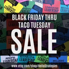 Black Friday Through Taco Tuesday Sale begins now at our new Etsy Shop. Sitewide 25% off.  No code necessary :)