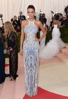 Kendall Jenner 2016 Met Ball, I think I want to be thin and rich mostly so I can wear stuff like this.