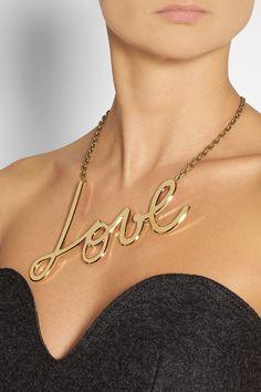 "Lanvin Collier doré ""Stephanie"" - €625 !"