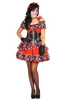 Jurk Day of the Dead rood