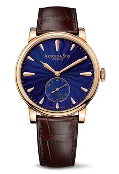 Arnold & Son HMS1 Royal Blue Watch.  http://www.roomofluxury.co.uk/watches/arnold-son.html